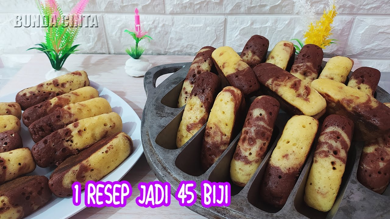 Resep Viral KUE PUKIS COKLAT VANILA