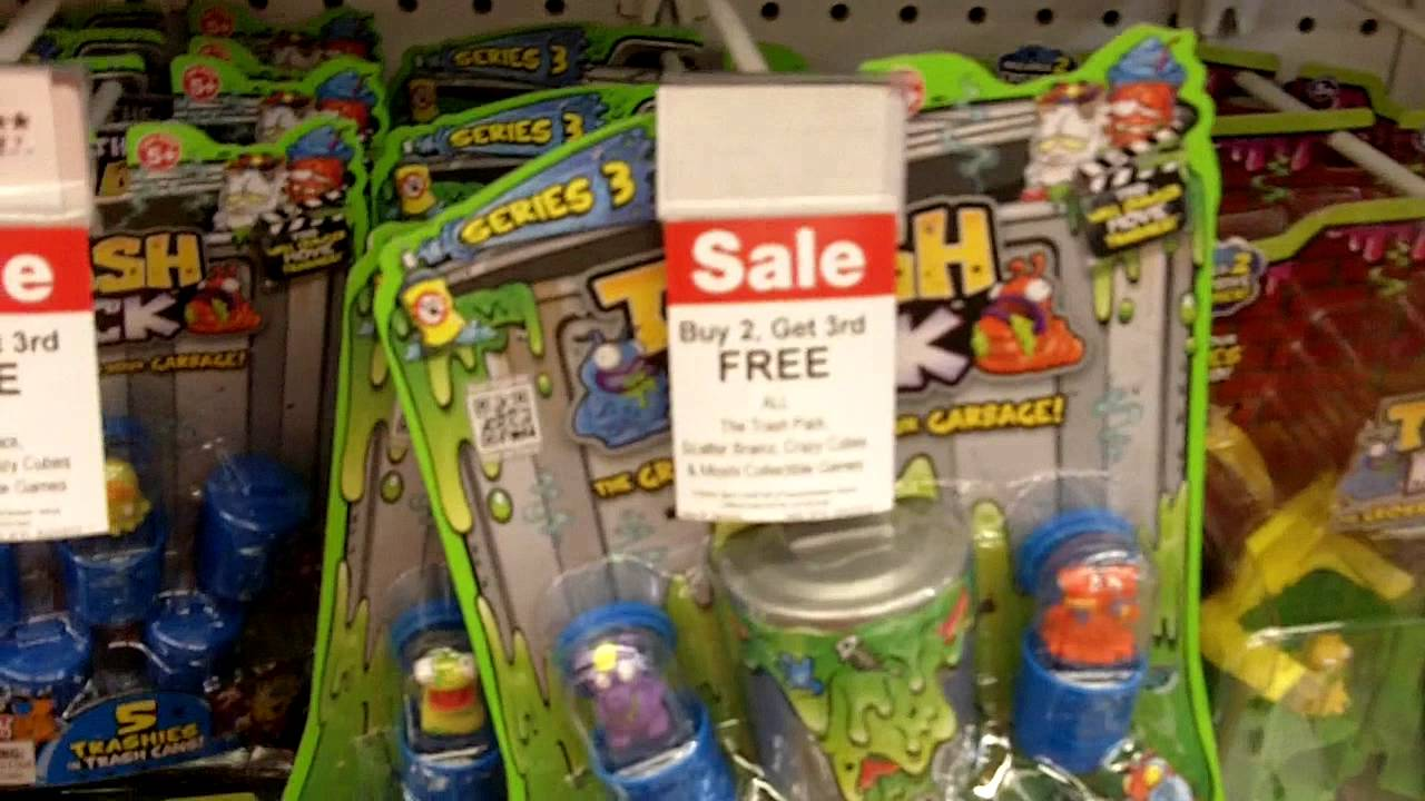 Trash Pack Series 3 Shopping At Toys R Us With Reaganzilla Youtube