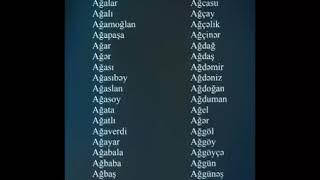 Usaqlarimiza Turk Adlari Qoyaq Youtube