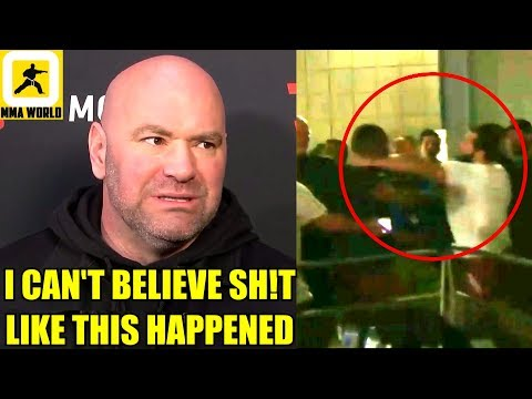 MMA Community Reacts to the backstage altercation between Jorge Masvidal and Leon Edwards,Dana White