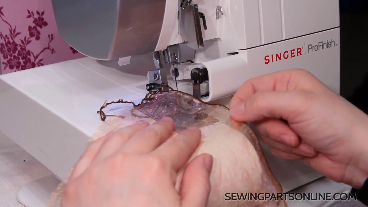 How To Serge A Rolled Hem Youtube Kenmore Model 12 Sewing Machine Threading Diagram Parts Online