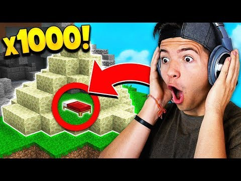 OP 1,000 ENDSTONE BED DEFENSE! (Minecraft Bedwars)