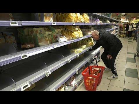 Covid 19: en Italie, les supermarchés se vident