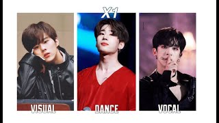 X1 MEMBERS RANKINGS IN DIFFERENT CATEGORIES (MY OPINION)