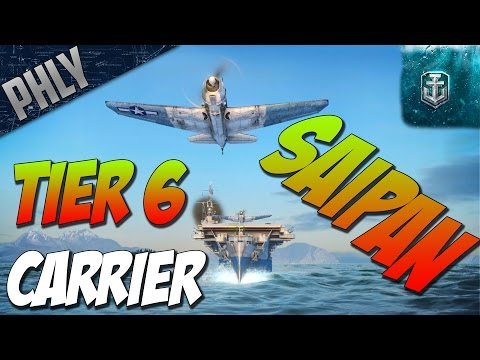 World Of Warships - Aircraft Carrier SAIPAN - Tier 6 American Aircraft Carrier Gameplay