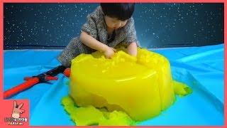 초거대 젤리 푸딩 스파이더맨 아이언맨 헐크 슈퍼히어로 장난감 친구들 구출 작전 ♡ 서프라이즈 에그 스타워즈 장난감 놀이 Jelly Toys | 말이야와아이들 MariAndKids