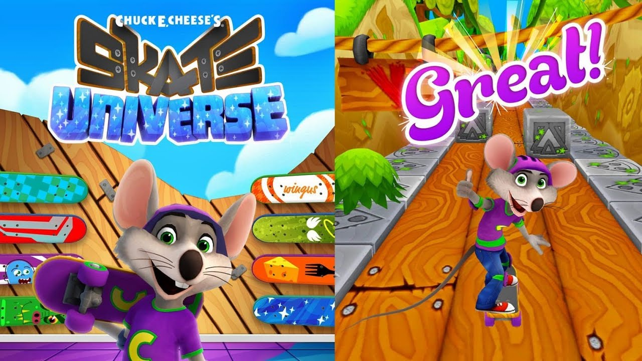 Chuck E Cheese s   Skate Universe   Free Game App for Kids   YouTube