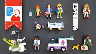 Learning Jobs for kids with Dentist Veterinarian lego レゴ playmobil