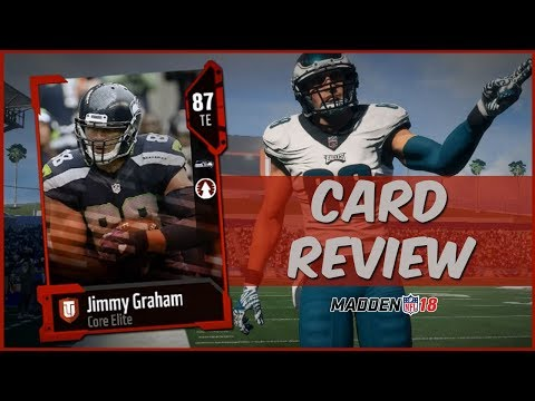 MUT 18 Card Review   Core Elite Jimmy Graham Gameplay + Card Review