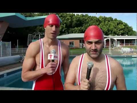 Blind Diving - Event 1 in Fitzy and Wippa's Pentathlon