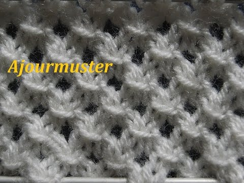 Ajourmuster Stricken*Muster Für Pullover*Mütze*Tutorial Handarbeit
