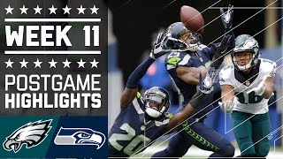 Repeat youtube video Eagles vs. Seahawks (Week 11) | Game Highlights | NFL