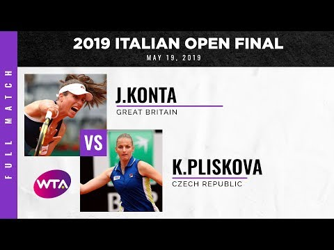 Johanna Konta vs. Karolina Pliskova | Full Match | 2019 Italian Open Final