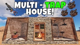 RUST | USING CAUGHT PLAYERS AS BAIT in a MULTI-TRAP, TRAP BASE!