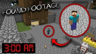 I left Minecraft running on the Herobrine Seed at 3:00 AM... (FOUND FOOTAGE)