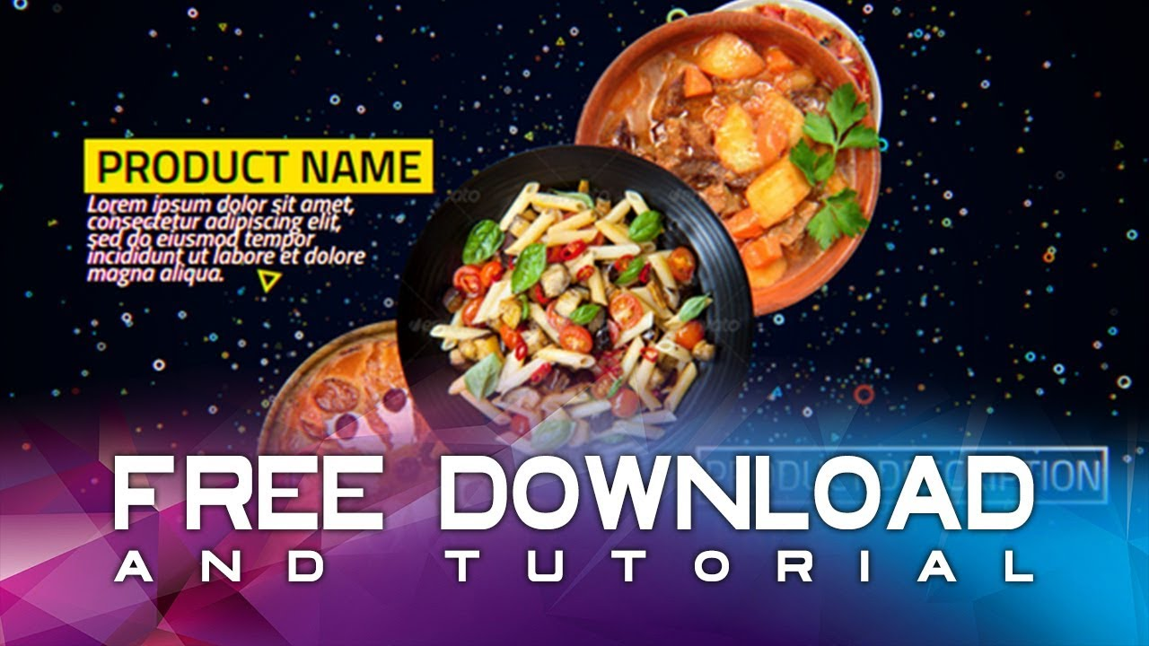 food after effects template free download