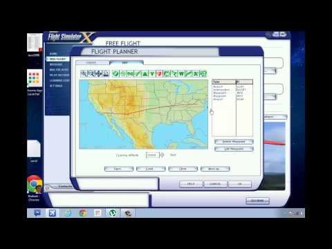 How to create a flight route manually using flight planner in FSX for beginner-Tutorial #2