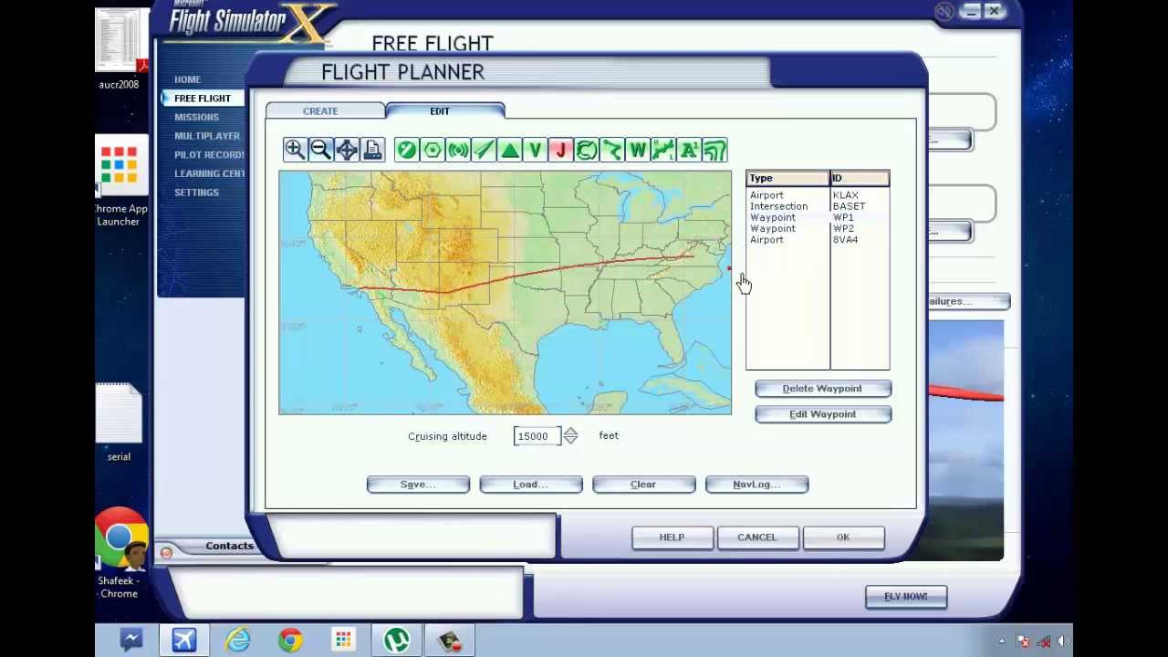 How to create a flight route manually using flight planner for For planner