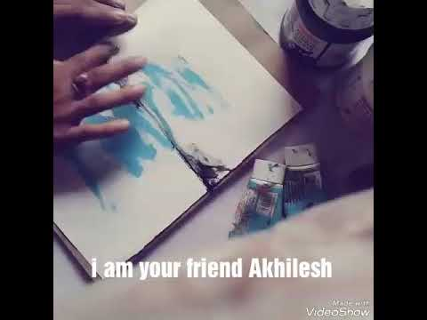 Easy to way make landscape painting