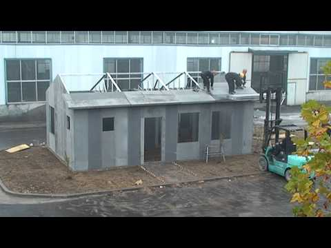 Lightweight insulated concrete panels funnycat tv for Foam concrete house construction