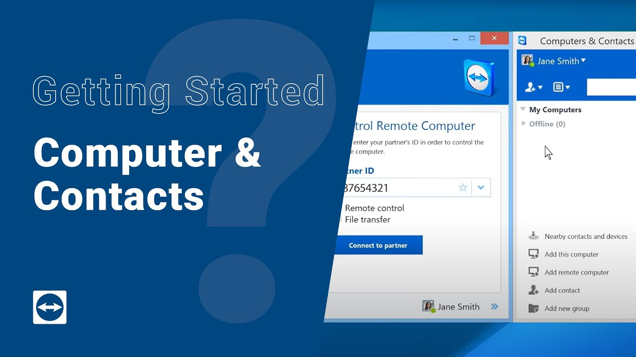 Getting Started with TeamViewer - Computers \u0026 Contacts - YouTube