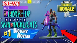 Fortnite giddy-up skin highlights!! Pro fortnite mobile player