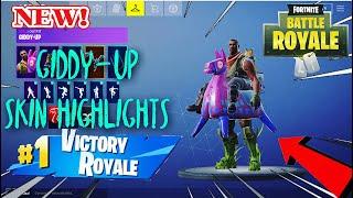 Fortnite giddy-up skin highlights!! Pro fortnite mobile player