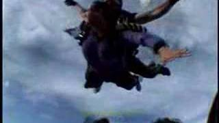 Janet Kuypers jumping out of an airplane