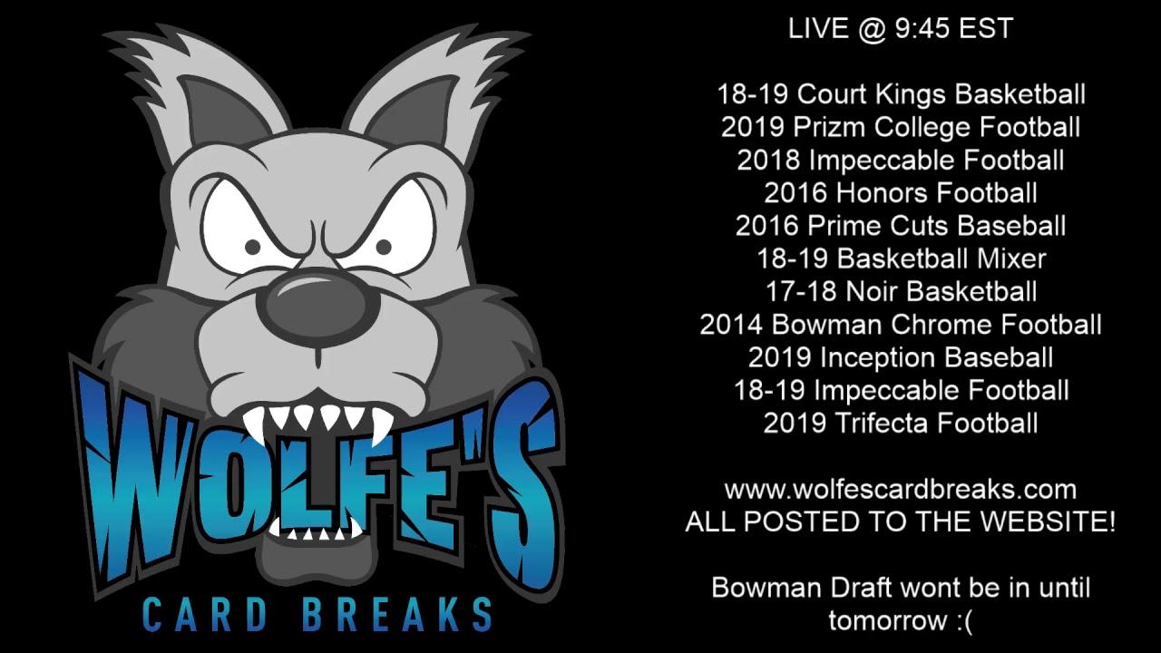 Wolfescardbreaks Live Breaks