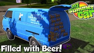 VAN & BOAT FILLED WITH BEER! - My Summer Car #18 - My Summer Car Gameplay & Update