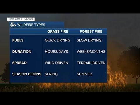 Understanding types of wildfires