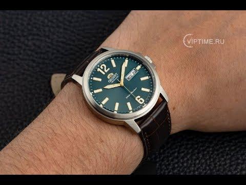 Мужские механические часы Orient RA-AA0C06E19B с зеленым циферблатом