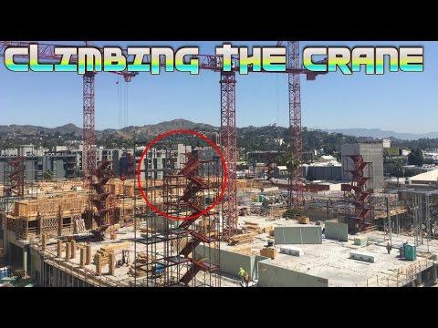 CLIMBING THE HOLLYWOOD CRANE!!! - flamingeos ** Los Angeles **