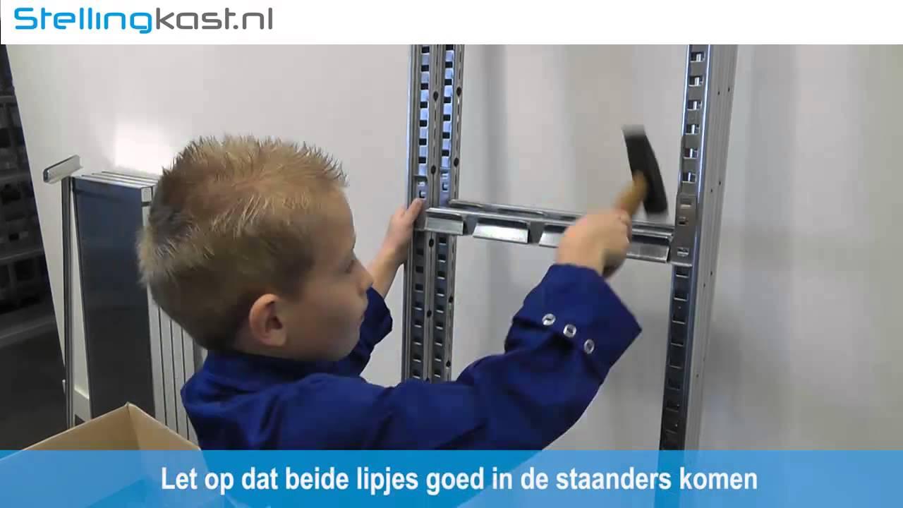 Ijzeren Stellingkast Gamma.Stellingkast Montage Video Zie Hoe Kinderlijk Eenvoudig U Onze Stelling Monteert Snelle Levering