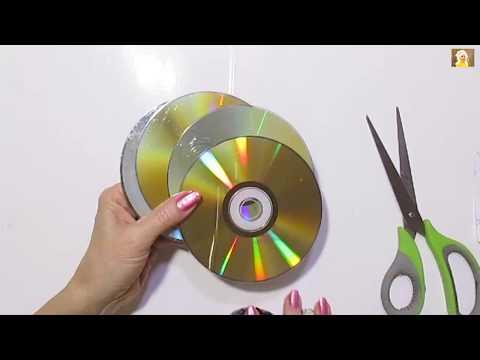 2 НОВЫЕ ИДЕИ Поделок из старых СD дисков своими руками. DIY. Подарки поделки своими руками.