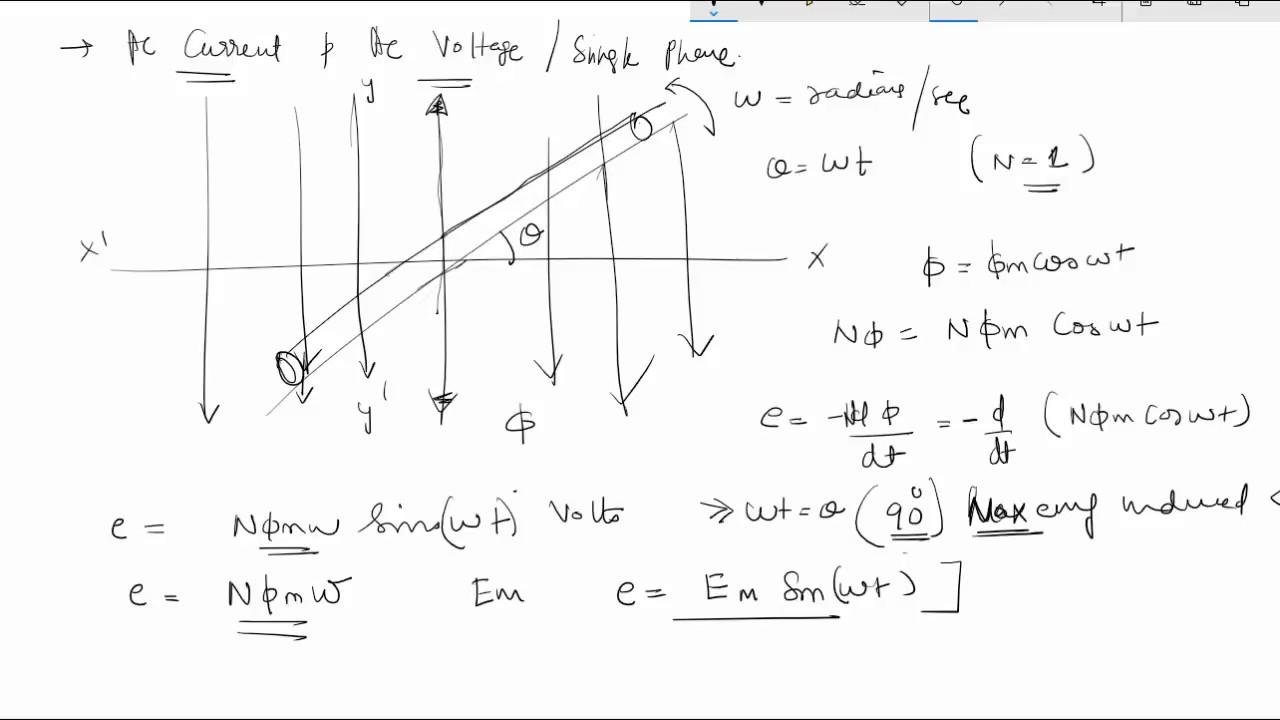 AC Current and Voltage Equation Derivation | voltage formula | ac formula