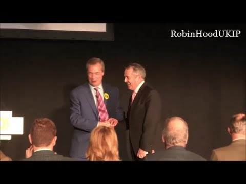 Nigel Farage introduces Special  Guest at Grassroots Out campaign launch