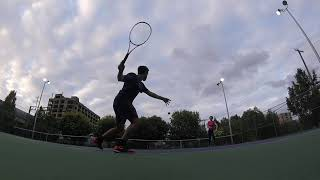 John Kantar Tennis Drills Inside Out Forehand Brooklyn New York