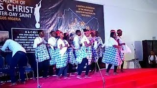 EDO  DANCE DURING 100 STAKES CELEBRATION OF LDS