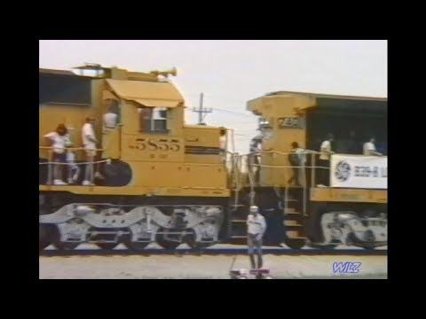 Topeka Railroad Days w/ATSF 5855 (SD-CAT) tour 1987