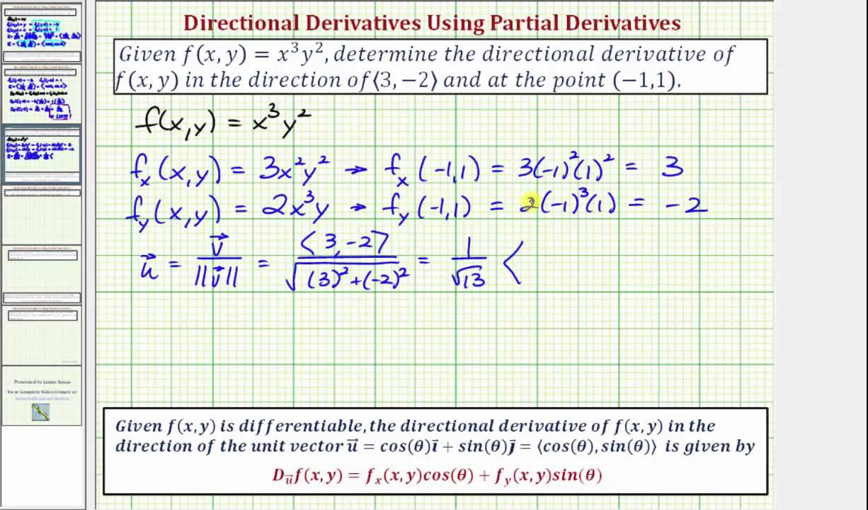 ��a�9�:n�y�*:,�f�XZ���_Ex2:FindaValueofaDirectionalDerivative-f(x,y)=x^n*y^m-YouTube