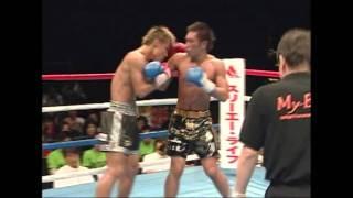 RISEスーパーライト級タイトルマッチ 吉本光志vs菅原勇介(3/3)Ex6R
