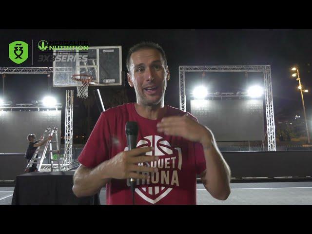 Entrevista Sergi Pino de Bàsquet Girona 3x3, campeones del Máster Final Barcelona