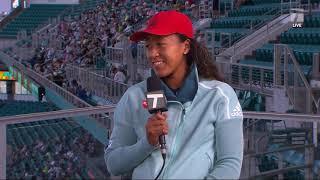 Naomi Osaka - 2019 Miami Second Round Tennis Channel Desk Interview