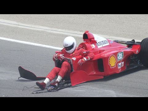 Ferrari  Race Car Crash