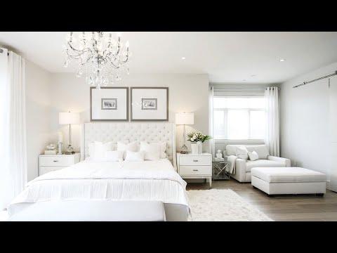 Stunning All White Master Bedroom Makeover  - Kimmberly Capone Interior Design