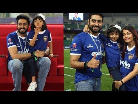 Aishwarya Rai Bachchan looked happy with Aaradhya bachchan and Abhishek Bachchan 😍
