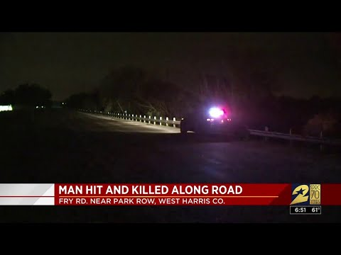 Man hit and killed by vehicle in Katy