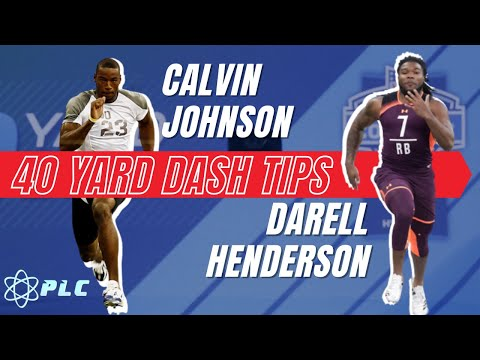 40 Yard Dash Tips With Calvin Johnson & Darrell Henderson | Mechanics With Morey