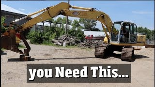 Excavators - One of the Top 4 tools a landscaping company NEEDS